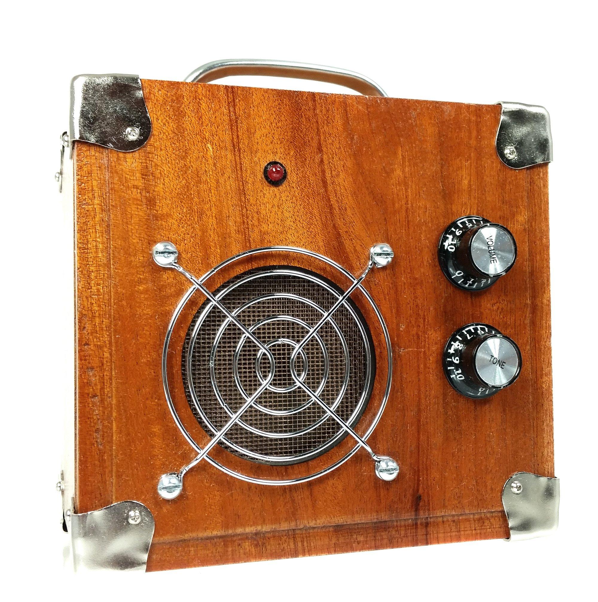 Beautiful 2.5-watt Solid Wood Cigar Box Guitar Amplifier (#5)