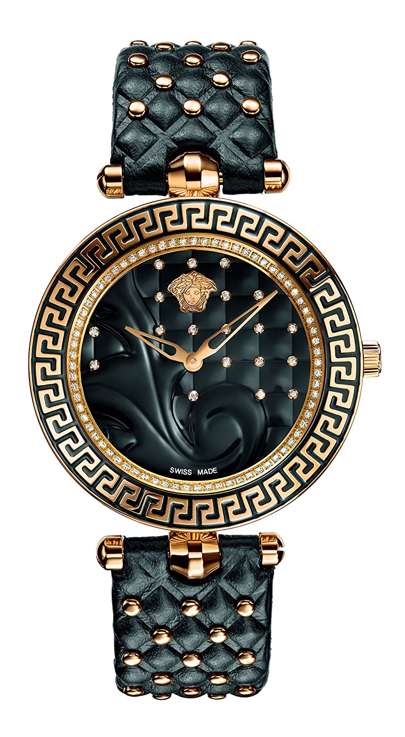 cf7a2046 Versace Women's VK7210014 Vanitas Analog Display Swiss Quartz Black Watch