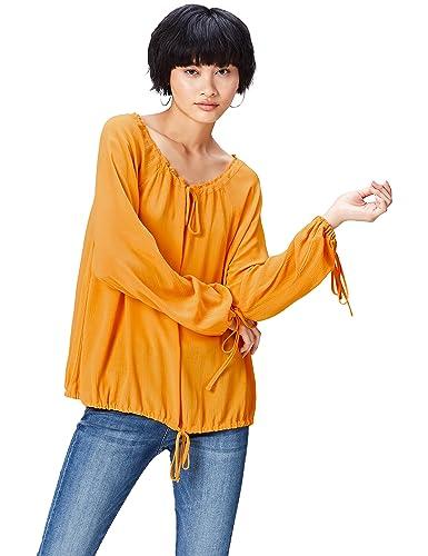 FIND Blusa Fruncida Estilo Boho para Mujer