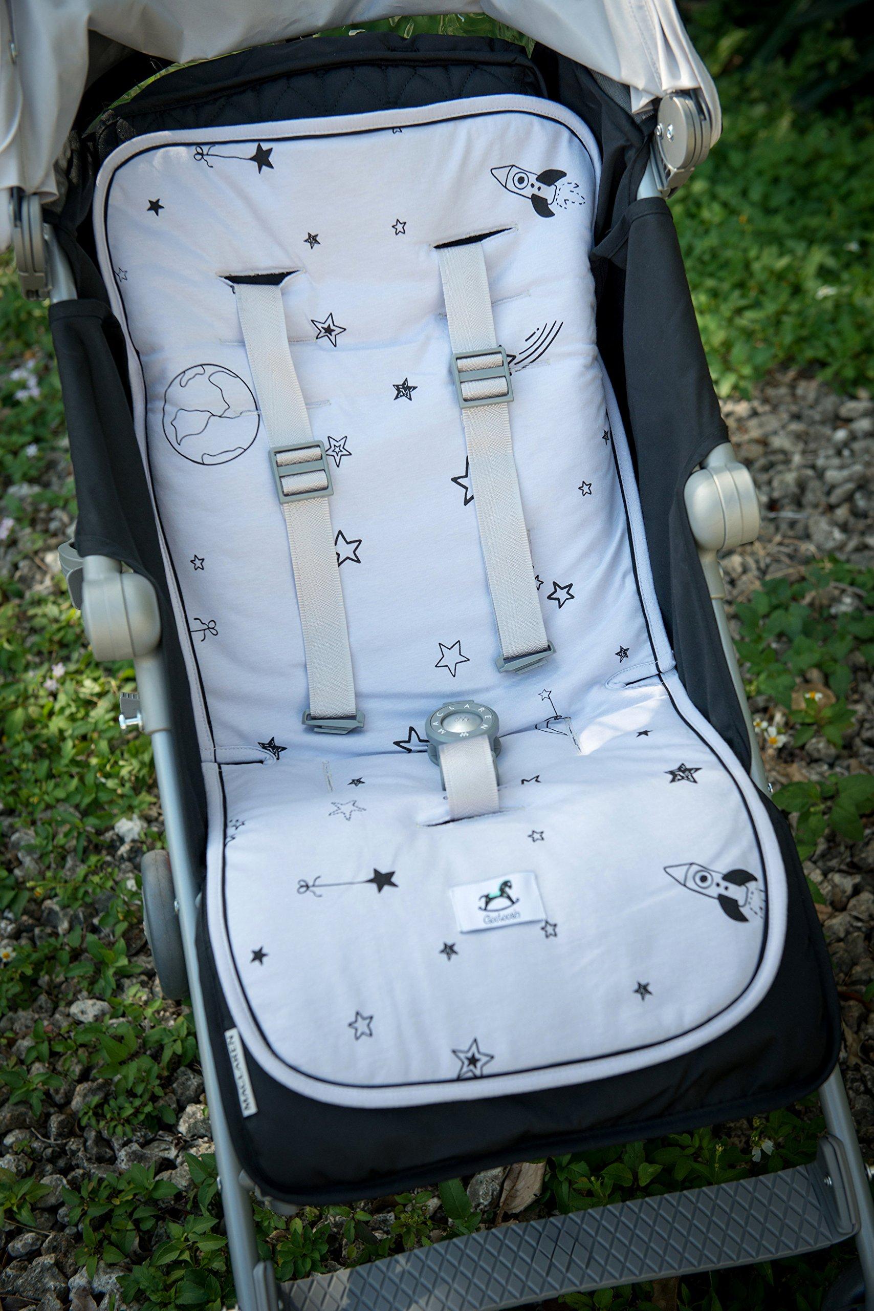 Stroller Liner pad/car seat Liner,Galaxy Star, Origami (Grey) by Gootoosh