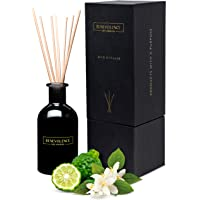 Benevolence LA Reed Diffusers for Home | Bergamot & Jasmine Fragrance Diffuser | Aromatherapy Scented Oil Reed Diffuser Set | Sticks Diffuser