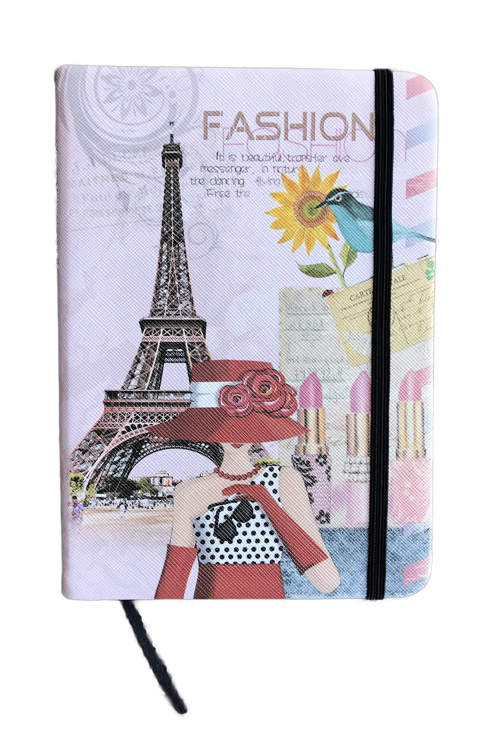 Whimsical Paris France Eiffel Tower Travel Themed Lined Journal (Fashion Notebook)