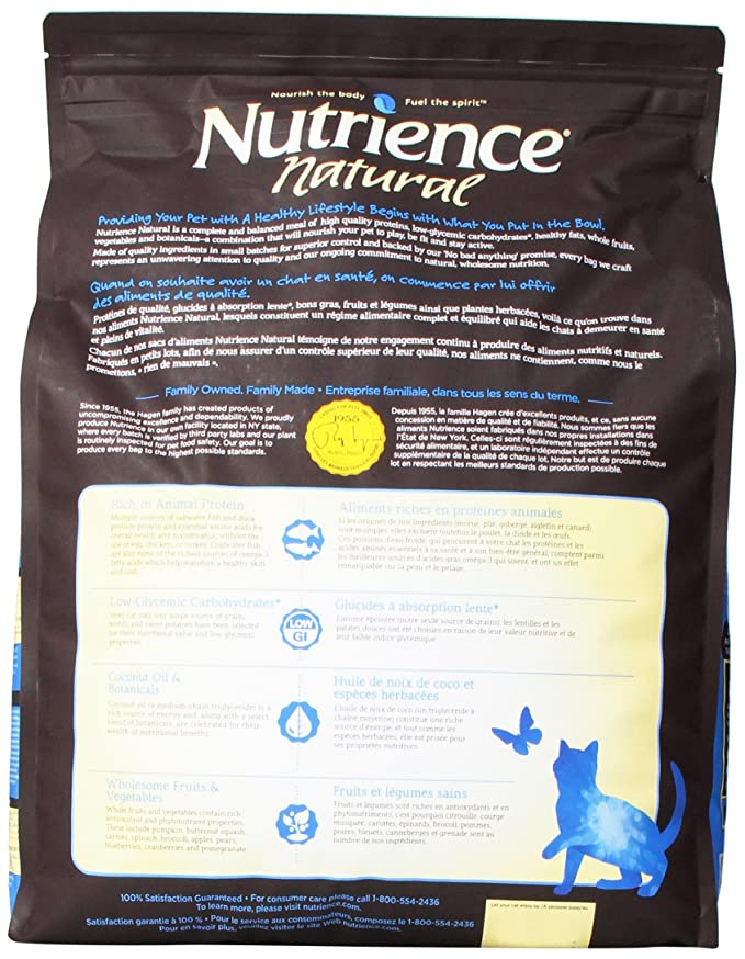 Amazon.com : Nutrience Natural Healthy Adult Cat Food, 18-Pounds, Ocean Fish And Duck : Pet Supplies
