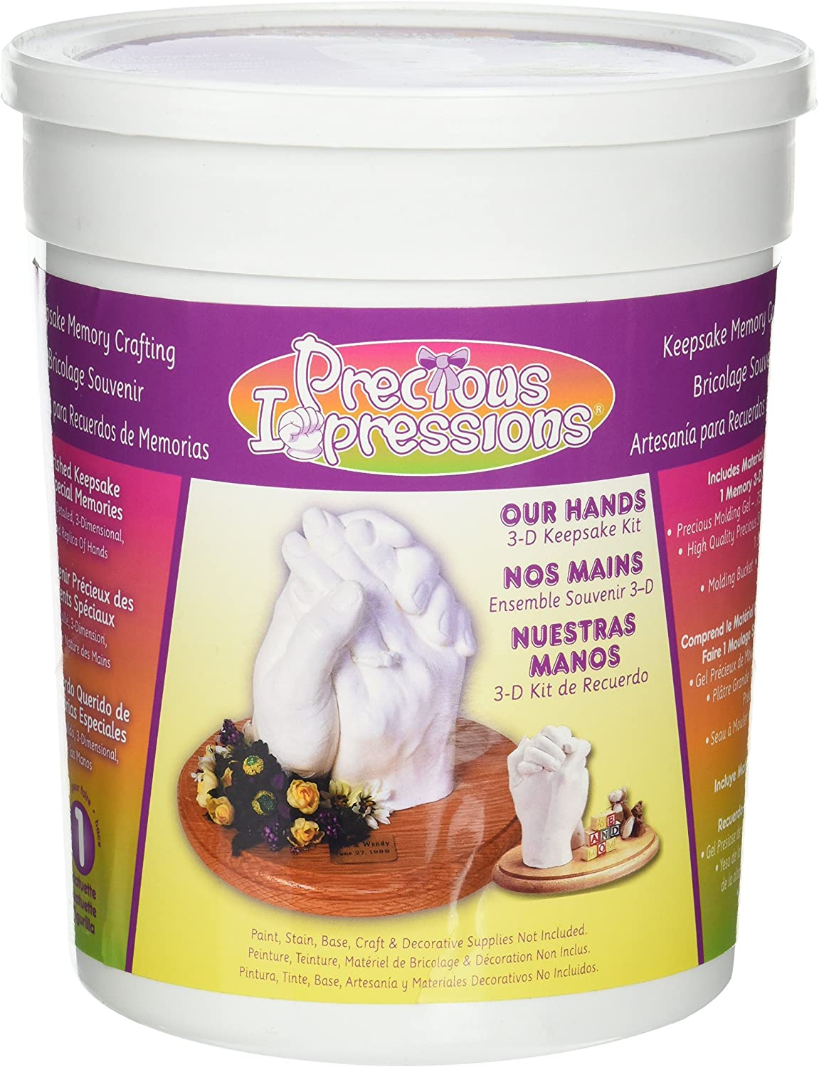 B001CDQGV6 Darice Precious Impressions Memory Hands Keepsake Kit – Commemorate Milestone Moments, 3-D Hand Plaster Mold and Keepsake Kit Includes Gel, Plaster, Bucket and Instructions – Makes a Great Kids Project 91SesxtHbLL