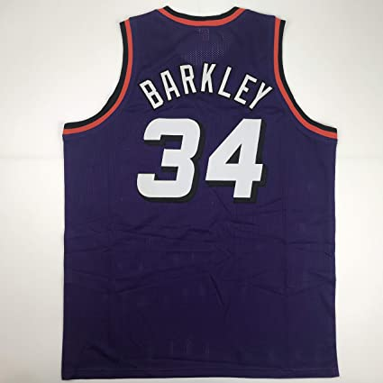 online store 27044 ed9bd Unsigned Charles Barkley Phoenix Purple Custom Stitched ...