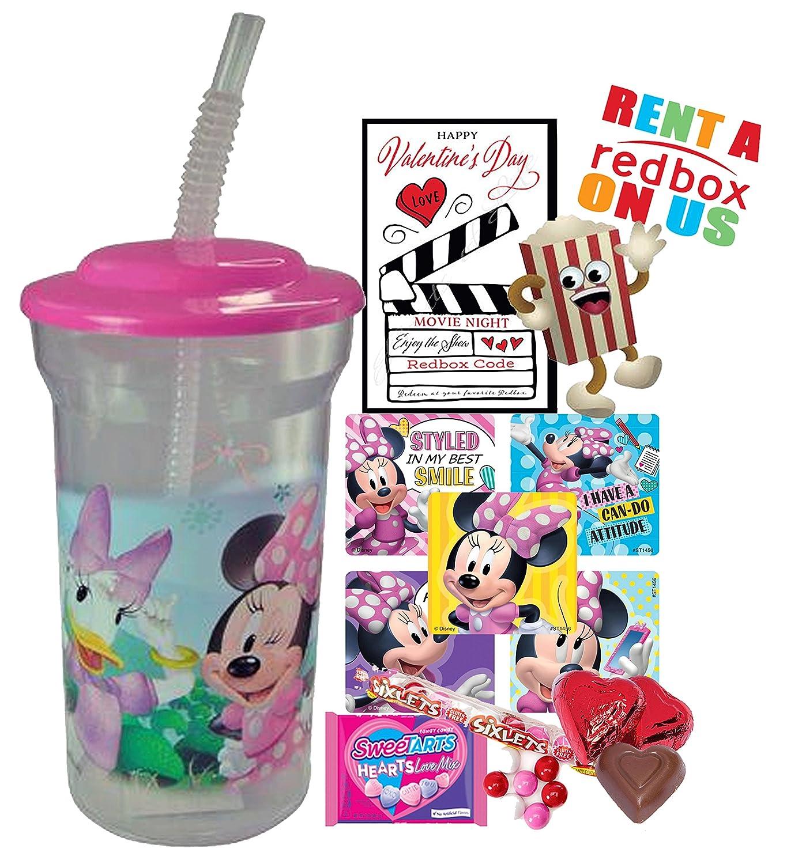 ... Valentín Redbox película noche Fun Sip vaso de recuerdo de precargada de favor taza. Y preparada para dar. Incluye, Redbox alquiler, palomitas de maíz, ...