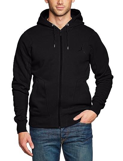 0b0678aad99 Amazon.com: Nike Men's Jordan 23/7 Full-Zip Hooded Sweatshirt – Black/Black  547664-010 size: M: Clothing