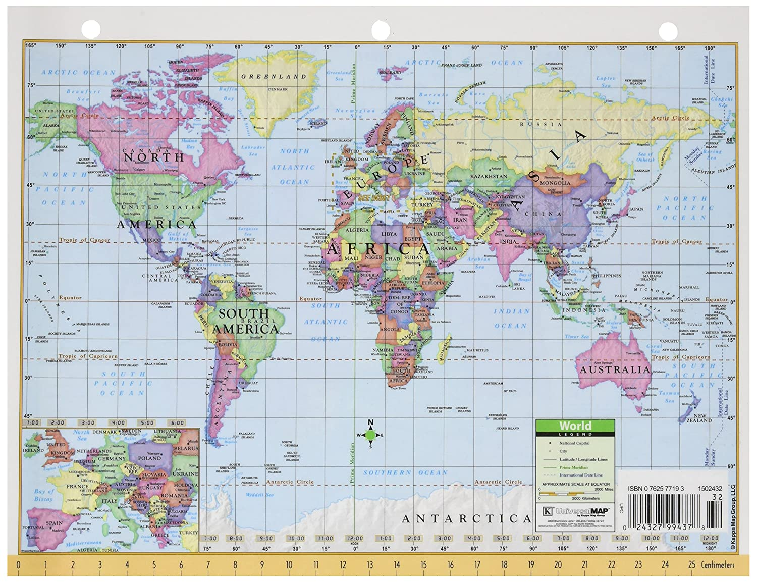 2 X 11 : Wall Maps :  Office Products