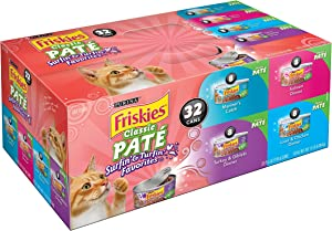 Friskies Purina Classic Pate Surfin & Turfin Favorites Cat Food Variety Pack 32-5.5 oz. Cans