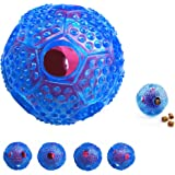Interactive Dog Toys - COLJOY Best Treat Dispensing Dog Toy For Puppy And Small Medium Large Dogs - Fill Chew Toy With Treats To Stop Boredom - Ball Shape Design Cleans Teeth