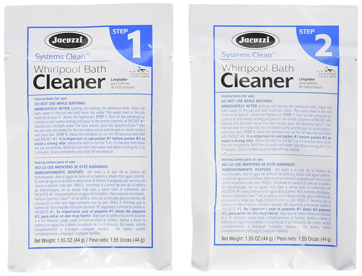 Jacuzzi T627000 Systems Clean, 5-Pack - Jacuzzi Bathtub Cleaner ...