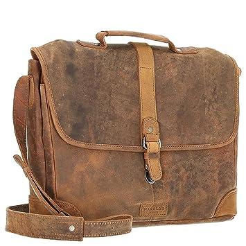 Harolds Antik Aktentasche 40 cm Natur: : Koffer