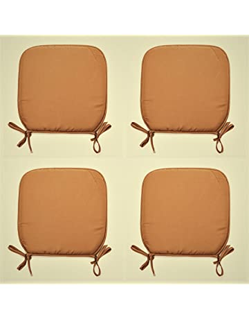 d41dda4eaaf Comfy Nights Padded Chair Seat Pads Cushion Simply Plain D-Shaped Tie-On  Seat