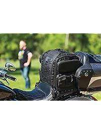 Kuryakyn 5284 Momentum Road Warrior Motorcycle Travel Luggage: Weather Resistant Seat/Trunk/Rack Bag with Sissy Bar...