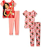 Disney Little Girls' Elena 4-Piece Cotton Pajama Set