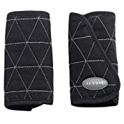 JJ Cole - Reversible Strap Covers, Supports Baby's Comfort in The Car Seat and Stroller, Black Tri Stitch, Birth and up