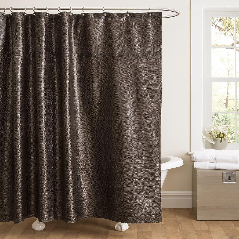Black And Brown Shower Curtain Curtain Menzilperde Net