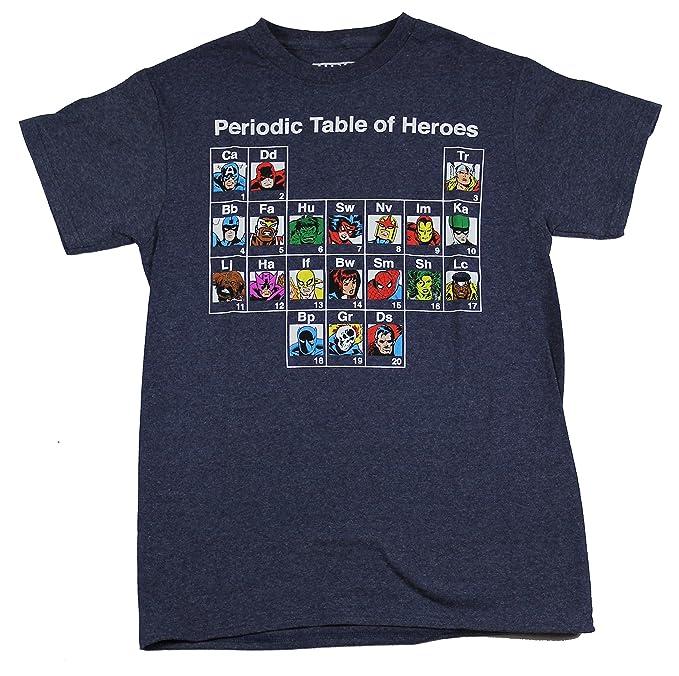 Amazon hybrid marvel mens periodic table of heroes t shirt hybrid marvel mens periodic table of heroes t shirt heather blue small urtaz Choice Image