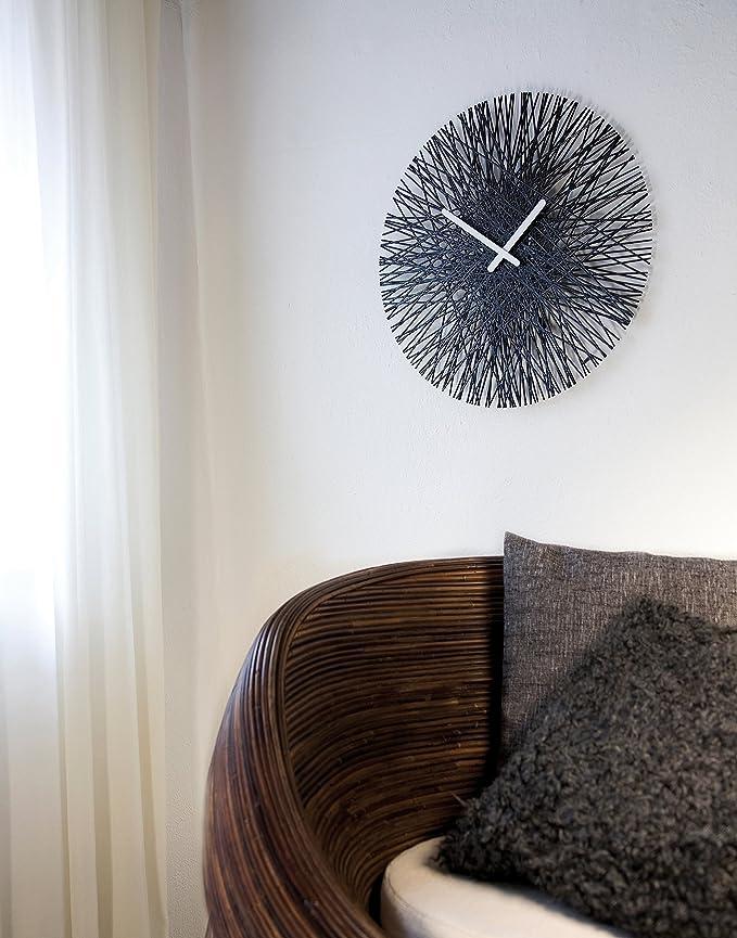 plastica;vetro koziol Orologio Design Vari Colori tondo Colore Bianco