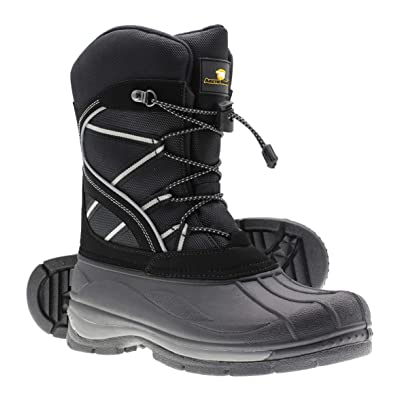 ArcticShield Mens Waterproof Insulated Warm Comfortable Durable Outdoor Ski Winter Snow Boots | Snow Boots