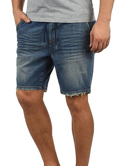 Blend Demo Short en Jean Pantalon Court Denim pour Homme Extensible ... ce9658b0f0a