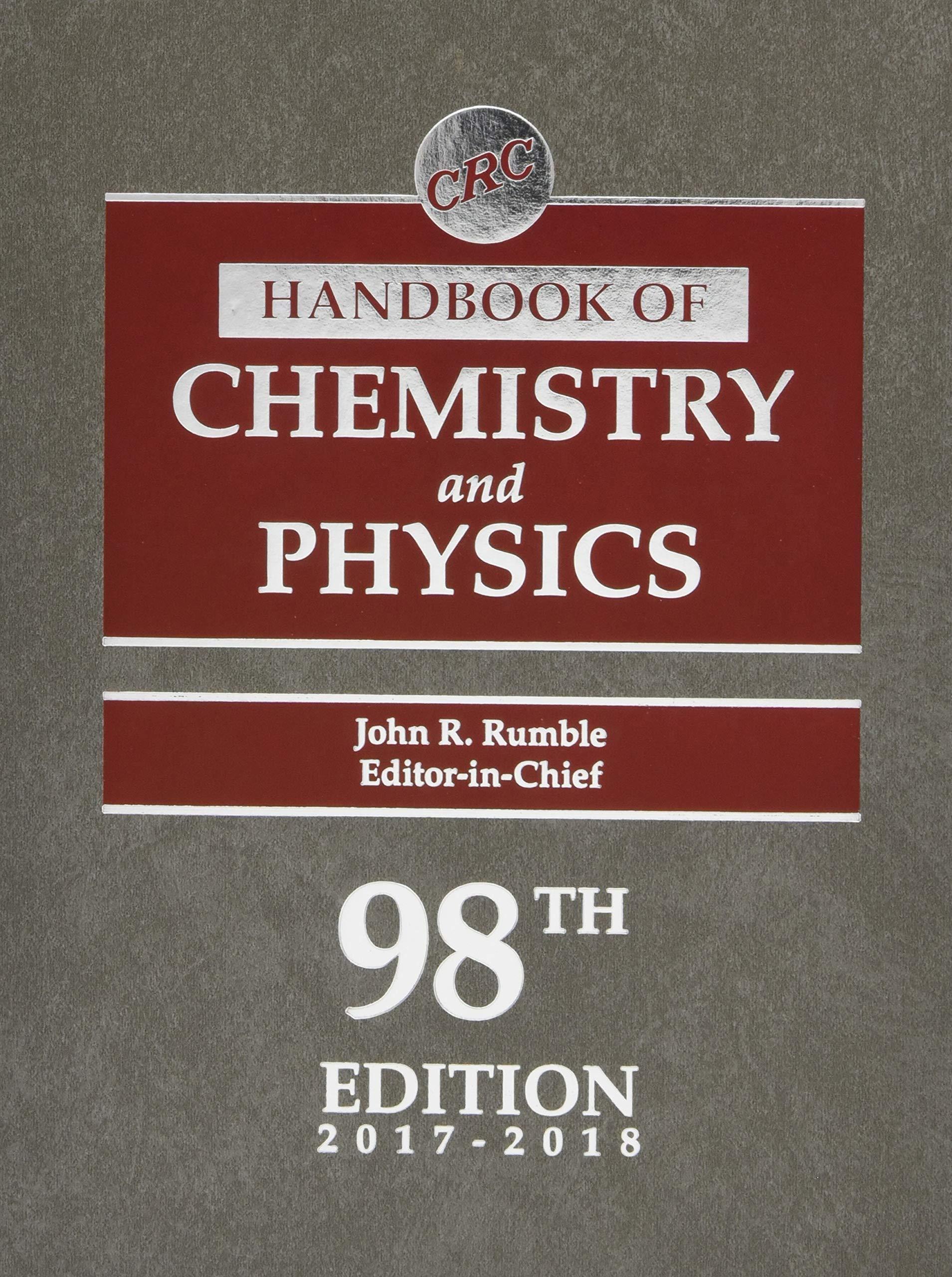 Crc Handbook Of Chemistry And Physics 98th Edition Amazon De John