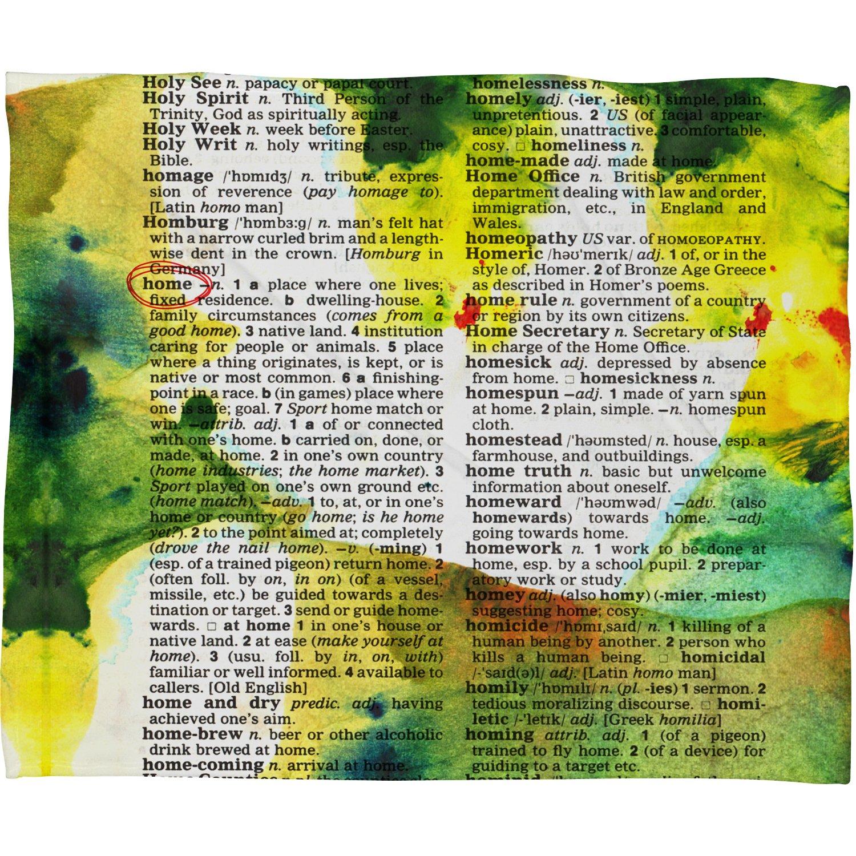 60 x 80 Deny Designs Susanne Kasielke Home Dictionary Art Fleece Throw Blanket