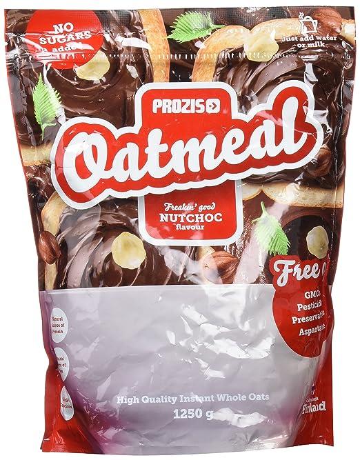Prozis Oatmeal 1250g - Cereales Repletos de Proteínas, Hidratos de Carbono de Alta Calidad y Fibras Saciantes - Sabor Tarta de queso con Fresas - Apto para ...