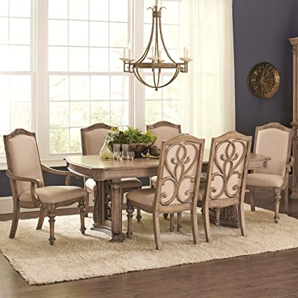 A Line Furniture La Bauhinia French Antique Carved Wood Design Dining Set  9-Piece Sets - Amazon.com - A Line Furniture La Bauhinia French Antique Carved Wood