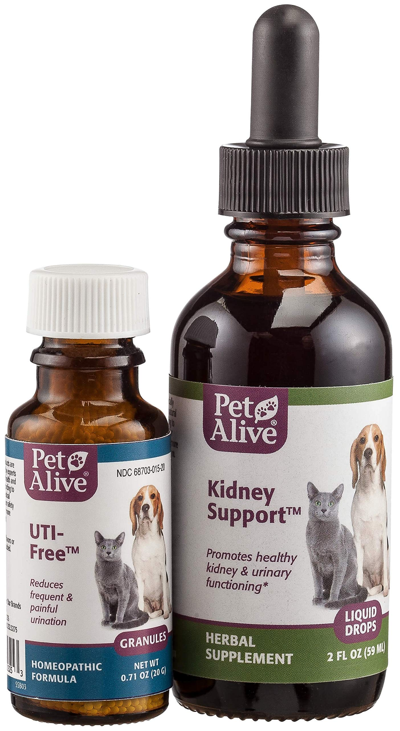 Petalive Kidney Support And Uti-free Combopack (one Of Each), 4 Units by PetAlive