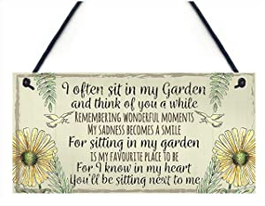 "Meijiafei Garden Plaque Summer House Sign Garden Shed Friendship Mum Nan Memorial Gift 10"" X 5"""