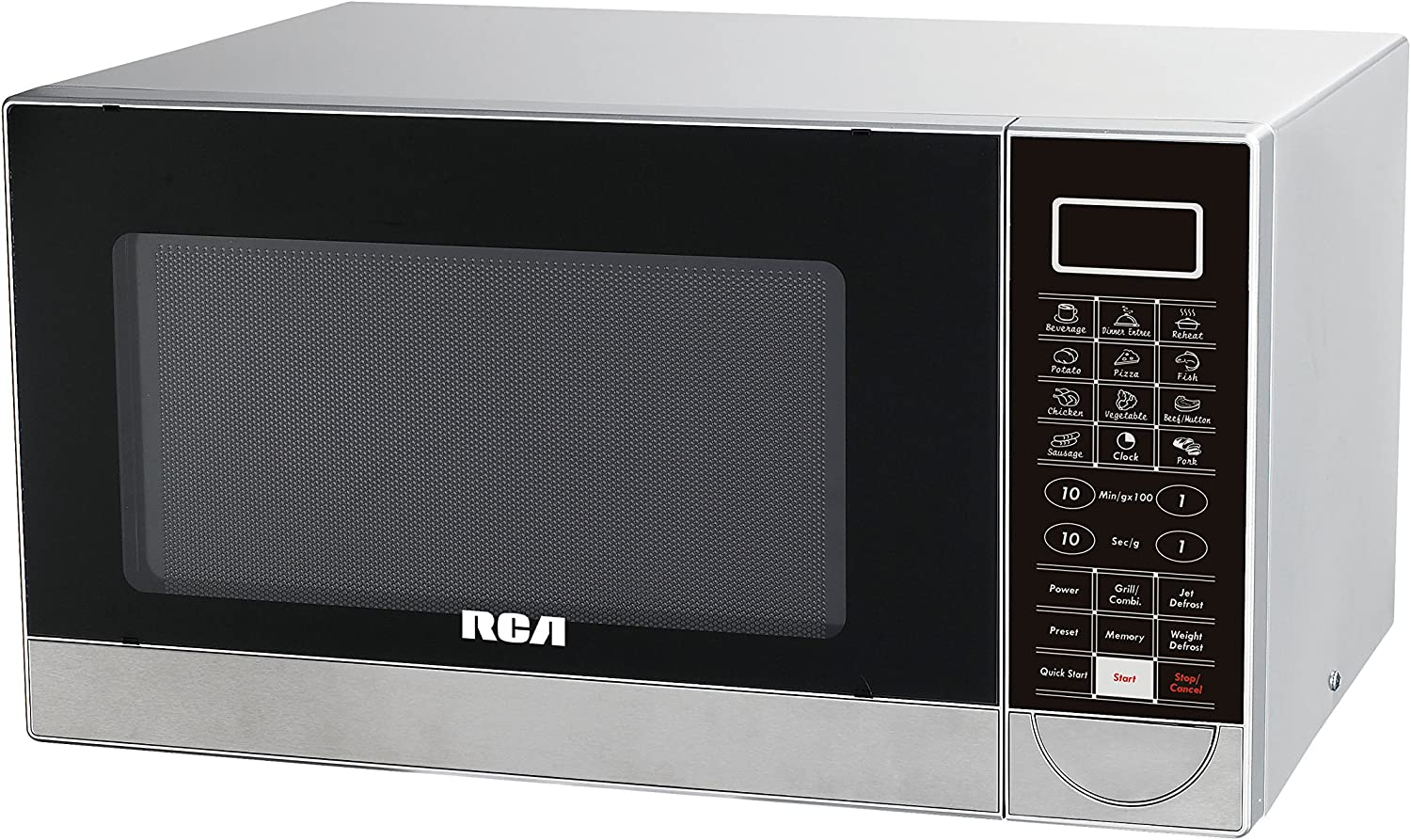rca rmw1182 microwave and grill 1 1 cubic feet stainless steel