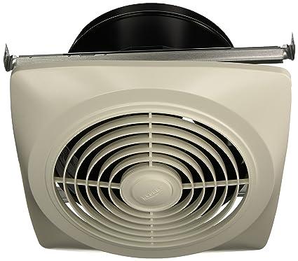 Broan 504 Vertical Discharge Utility Fan, 10 Inch 350 CFM 6.5 Sones, White
