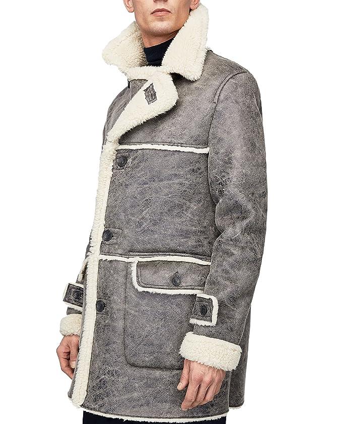 Zara - Abrigo - para hombre Gris gris XX-Large: Amazon.es: Ropa y accesorios