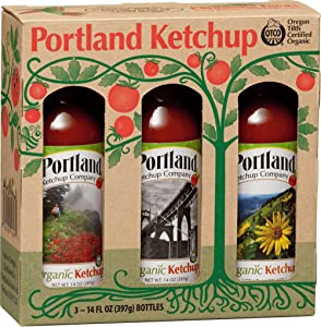 Portland Organic Ketchup Gift Box by Portlandia Foods (14 fl oz - pack of 3) Naturally Gluten-free, Vegan, non-GMO, Made in Oregon USA
