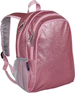 Wildkin Kids 15 Inch Backpack for Boys and Girls, Perfect Size for Preschool, Kindergarten and Elementary School, 600-Denier Polyester Fabric Backpacks, BPA-free, (Pink Glitter)