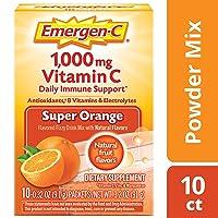 Emergen-C Vitamin C 1000mg Powder (10 Count, Super Orange Flavor), With Antioxidants...