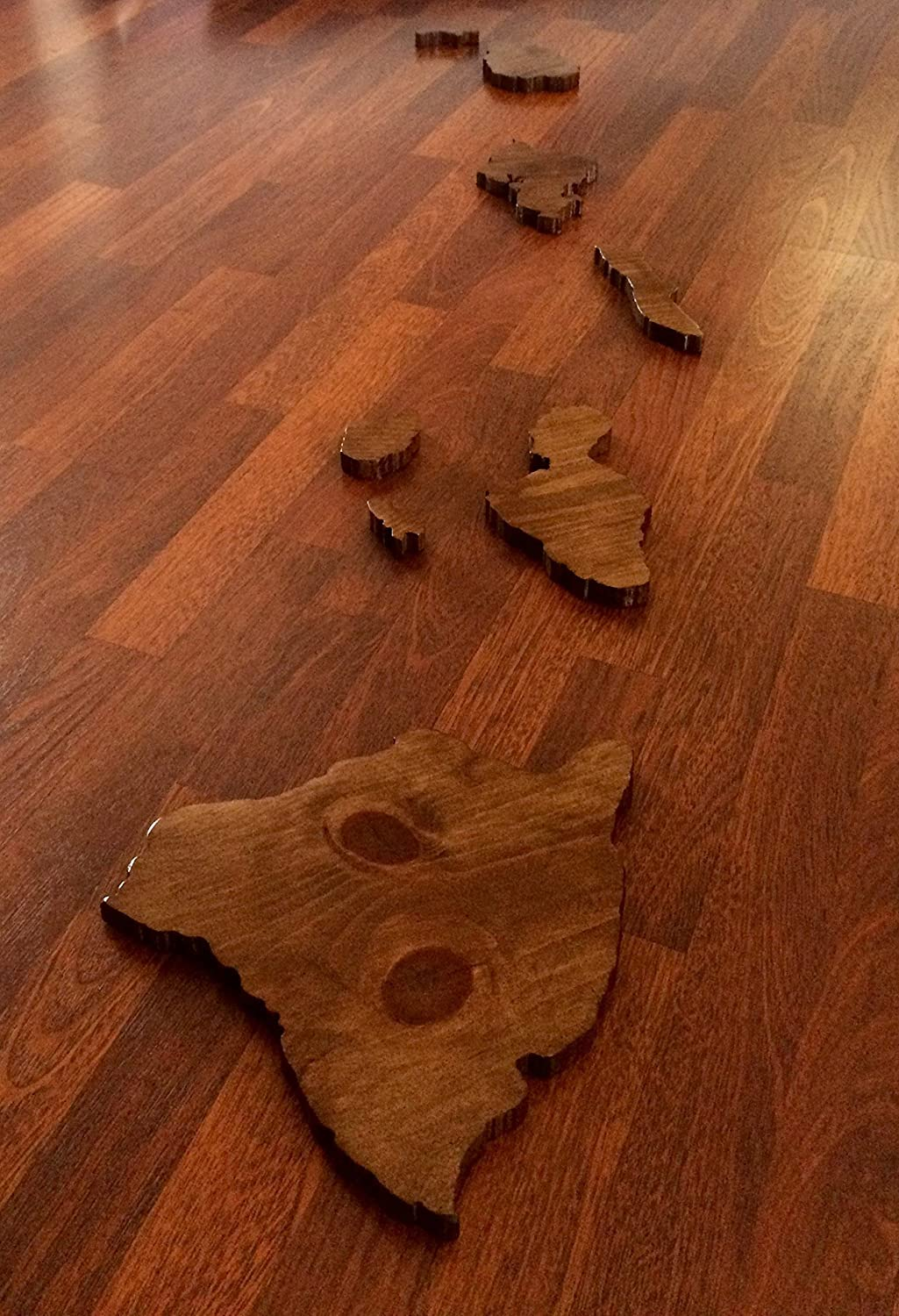 Handcrafted Wooden Hawaiian Island Chain - Wall Art Made with Aloha