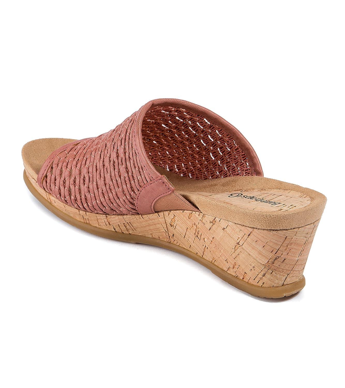 BareTraps Women's Flossey Slide Sandal B07B9NM1KC 9.5 M US Red Rose