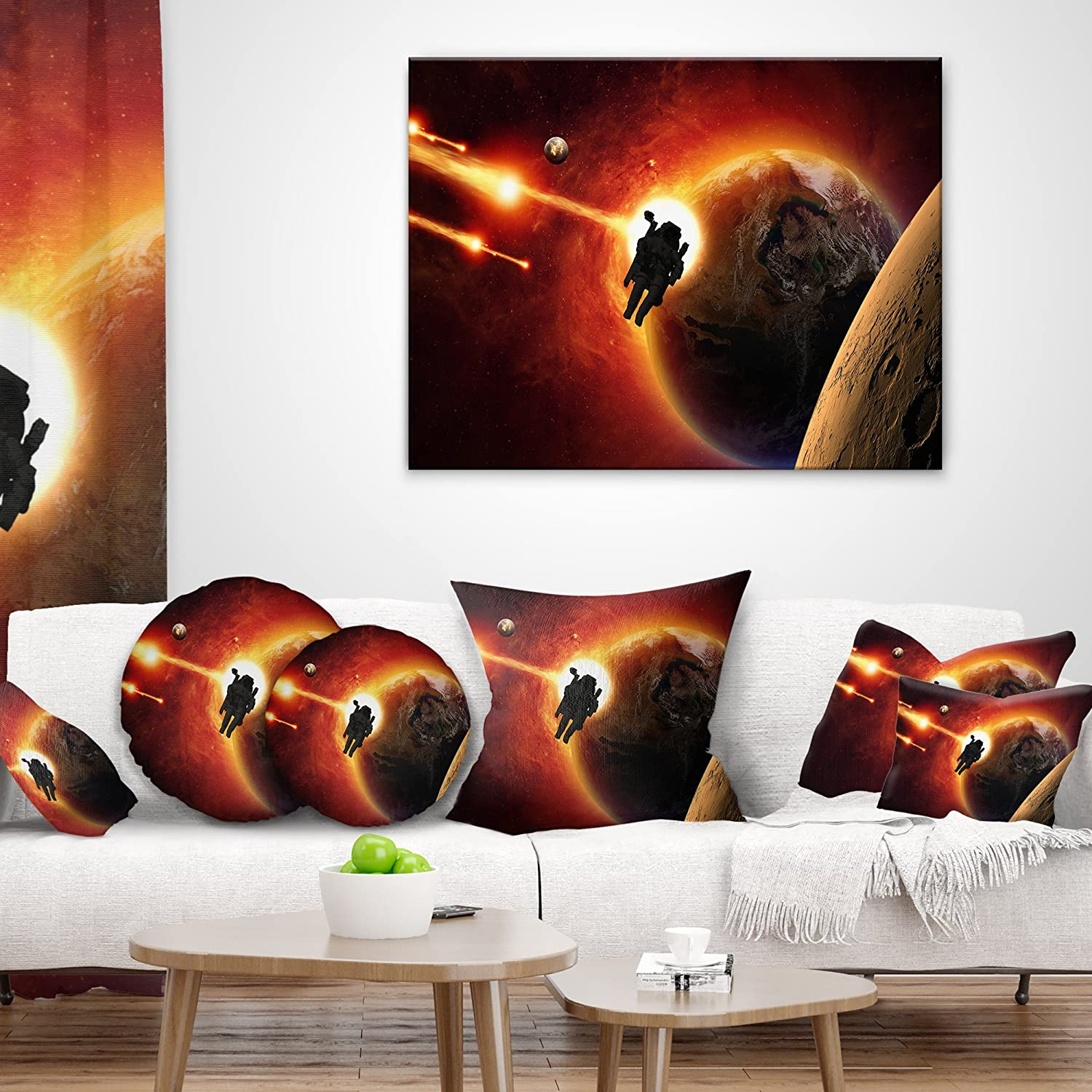 Designart CU8078-16-16-C Mission to Mars Throw Pillow 16