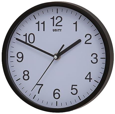 nice design quiet wall clock. Unity UNSW198 Radcliffe Sweeping Seconds Hand Quiet Wall Clock  Black Amazon com