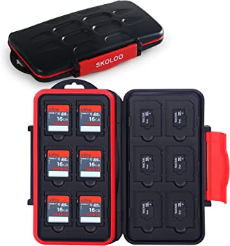 25 Slots Sealed Waterproof Memory Card Carrying Case Holder Box for CF Micro SD SDHC SDXC TF Cards