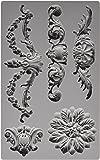 Prima Marketing 814793 Baroque No.3 Iron Orchid Designs Vintage Art Decor Mold, Grey