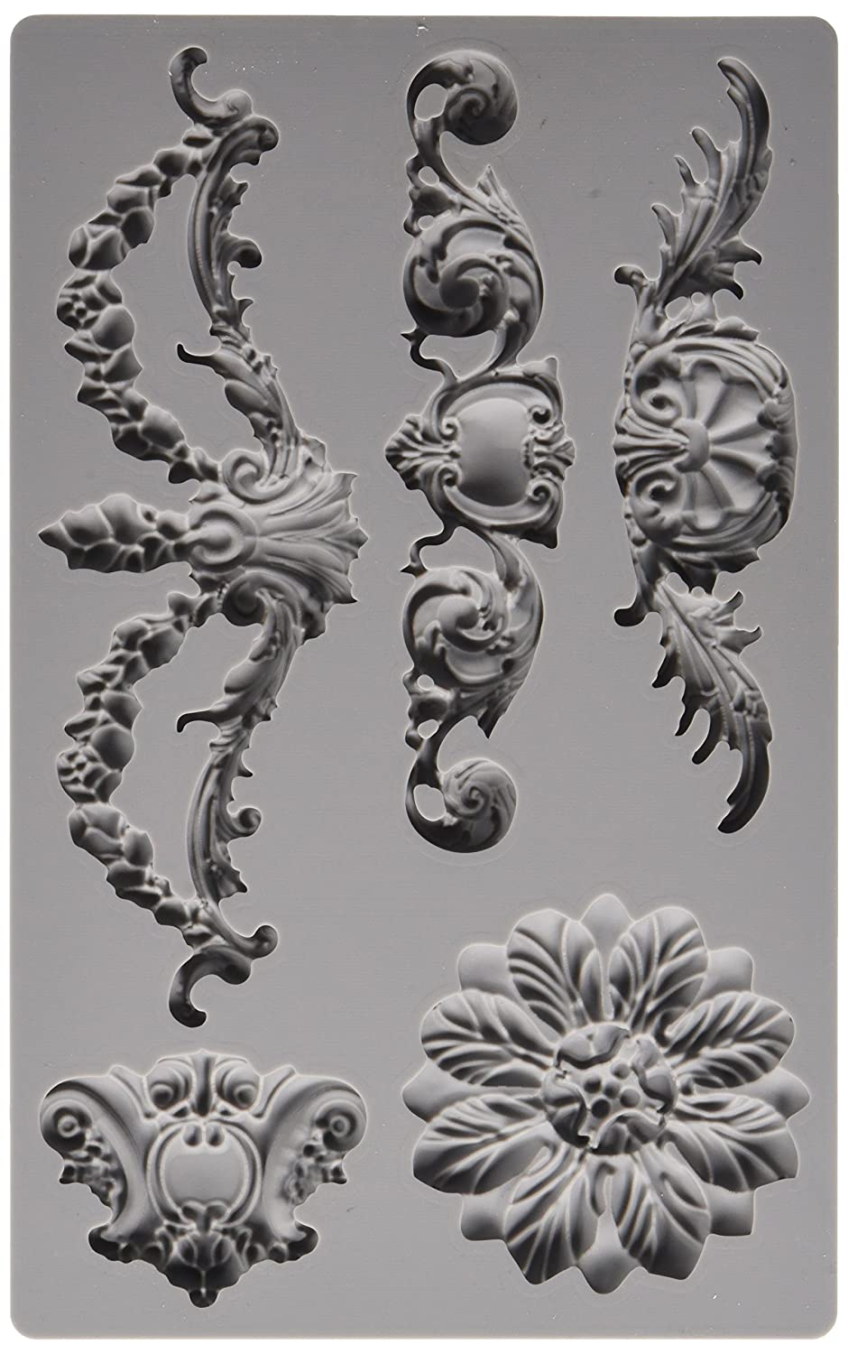 Prima Marketing 814793 Baroque No.3 Iron Orchid Designs Vintage Art Decor Mold, Grey Prima Maketing Inc