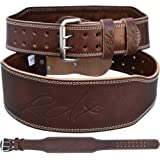 """RDX Cow Hide Leather Gym 4"""" Training Weight Lifting Belt Back Support Fitness Exercise Bodybuilding"""