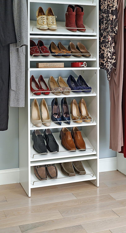 Amazoncom ClosetMaid 4877 SuiteSymphony 25 Inch Angled Shoe