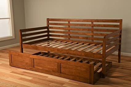 Amazon.com: Jerry Sales Boho Wood Daybed Frame Twin Size Choice to ...