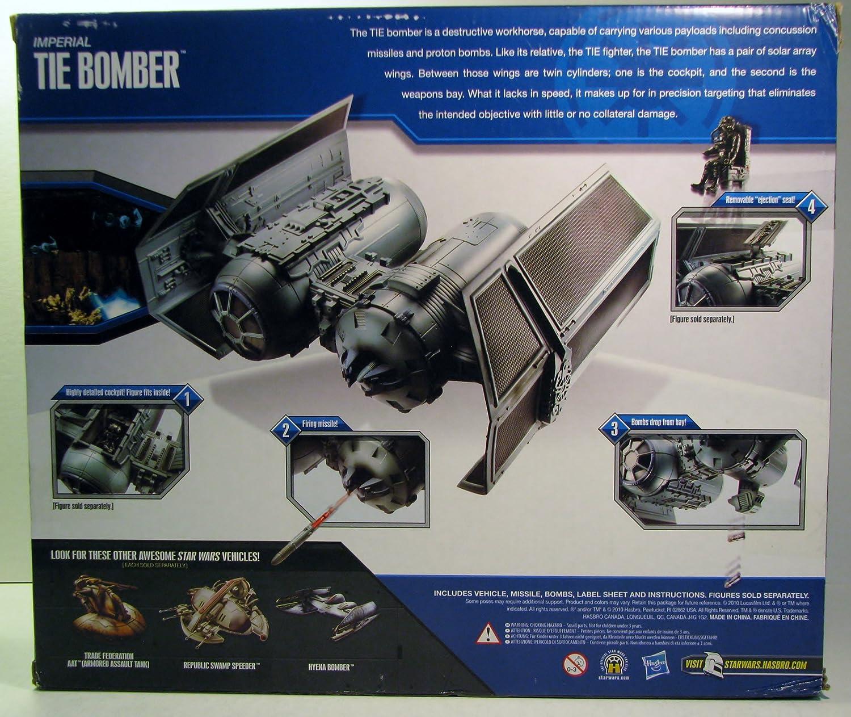 Star Wars 2010 Clone Wars Exclusive Deluxe Vehicle Imperial Tie Bomber Hasbro 97637 HS97637