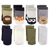 Luvable Friends Baby Basic Socks, Fox Owl 8Pk, 6-12