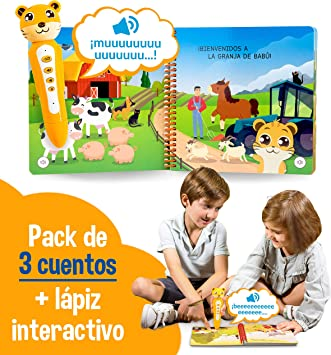 blaBOOK Pack de 3 Libros Interactivos Infantiles para Niños Entre 2 y 5 años + Lápiz Lector | SI Contiene Lápiz Lector: Amazon.es: Juguetes y juegos